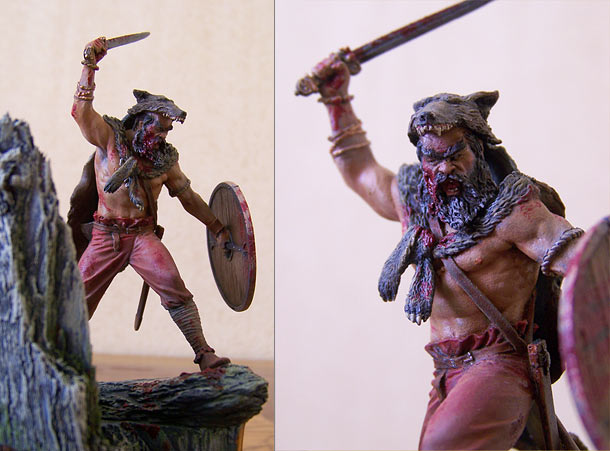 Figures: Berserker viking