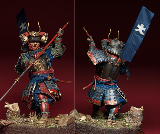 Figures: Samurai with naginata