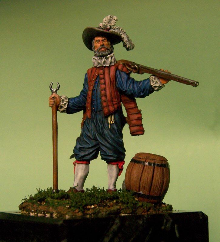 Figures: English veteran musketeer, 1588, photo #1