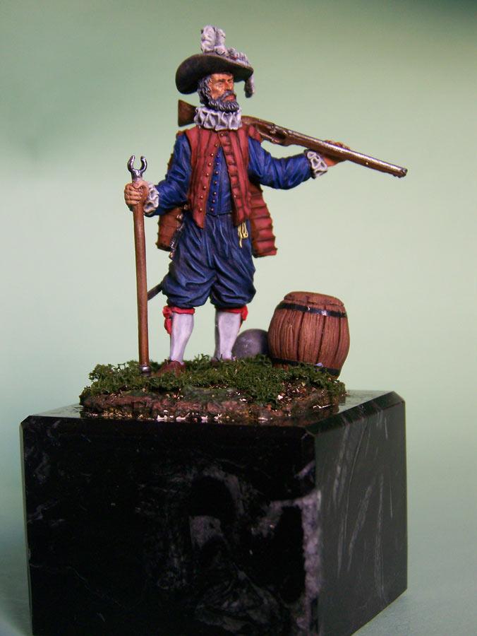 Figures: English veteran musketeer, 1588, photo #2