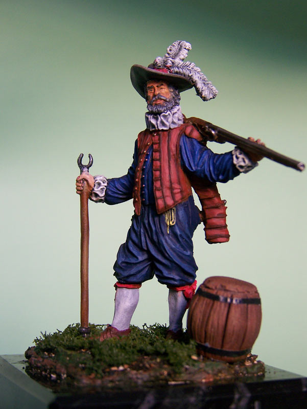 Figures: English veteran musketeer, 1588, photo #3
