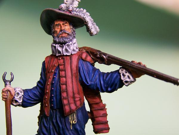 Figures: English veteran musketeer, 1588, photo #4