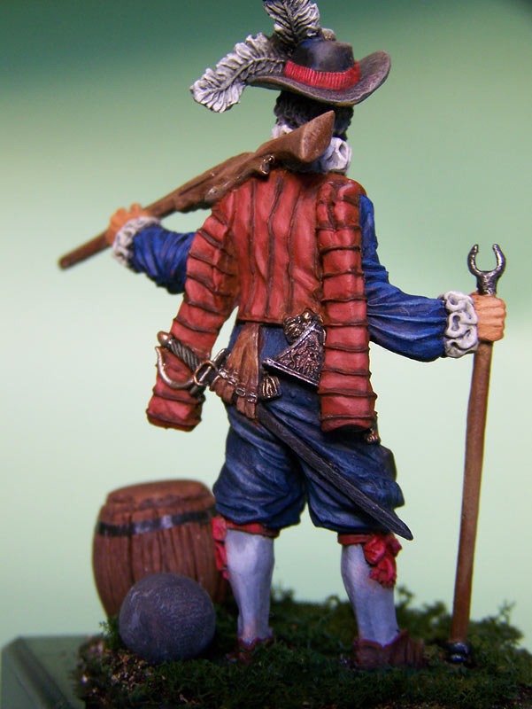 Figures: English veteran musketeer, 1588, photo #6
