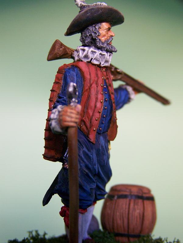 Figures: English veteran musketeer, 1588, photo #7