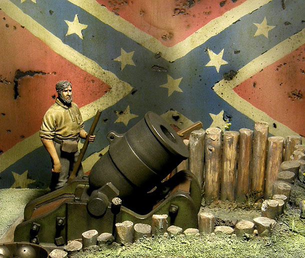 Dioramas and Vignettes: 10 Inch Seacoast Mortar (American Civil War, 1860)