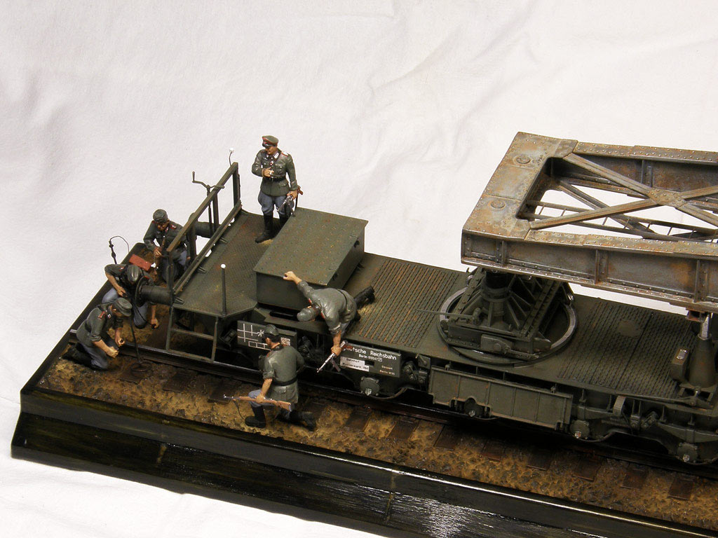 Dioramas and Vignettes: Karl-Gerät 041 on railway carrier, photo #10