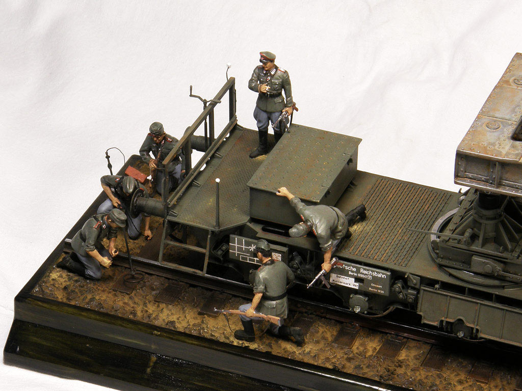 Dioramas and Vignettes: Karl-Gerät 041 on railway carrier, photo #11