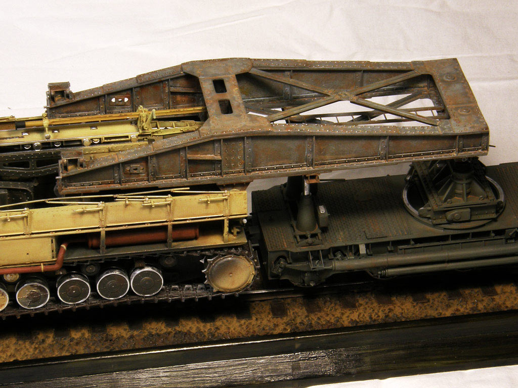 Dioramas and Vignettes: Karl-Gerät 041 on railway carrier, photo #12
