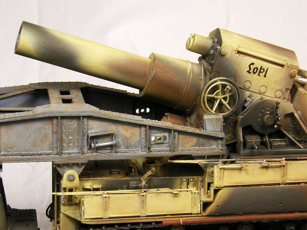 Dioramas and Vignettes: Karl-Gerät 041 on railway carrier, photo #13