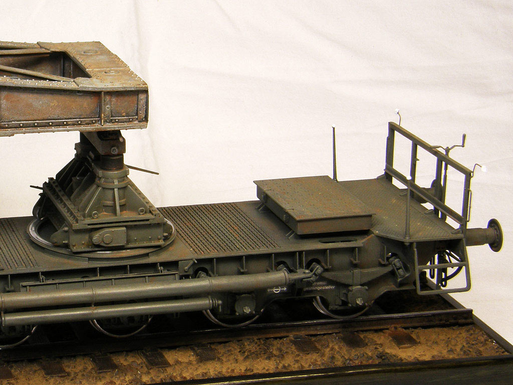 Dioramas and Vignettes: Karl-Gerät 041 on railway carrier, photo #14