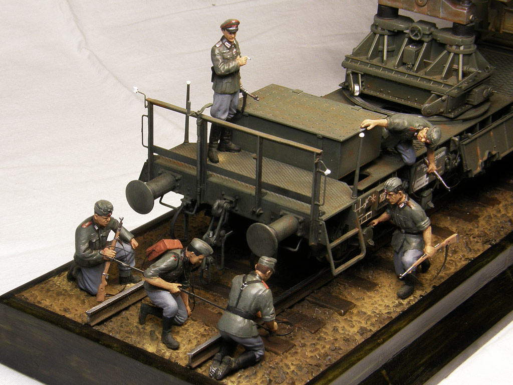 Dioramas and Vignettes: Karl-Gerät 041 on railway carrier, photo #15