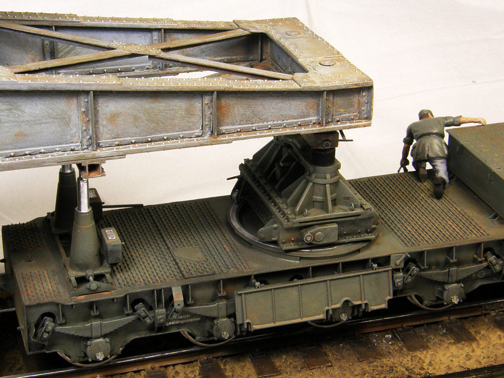 Dioramas and Vignettes: Karl-Gerät 041 on railway carrier, photo #16