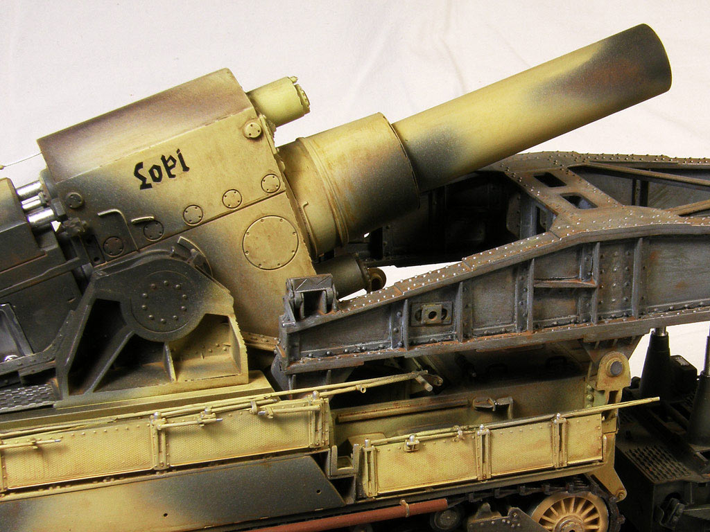 Dioramas and Vignettes: Karl-Gerät 041 on railway carrier, photo #17
