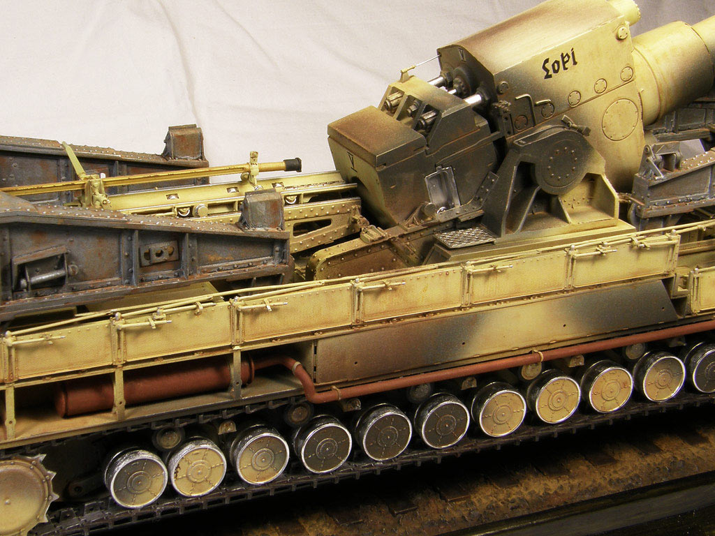 Dioramas and Vignettes: Karl-Gerät 041 on railway carrier, photo #18