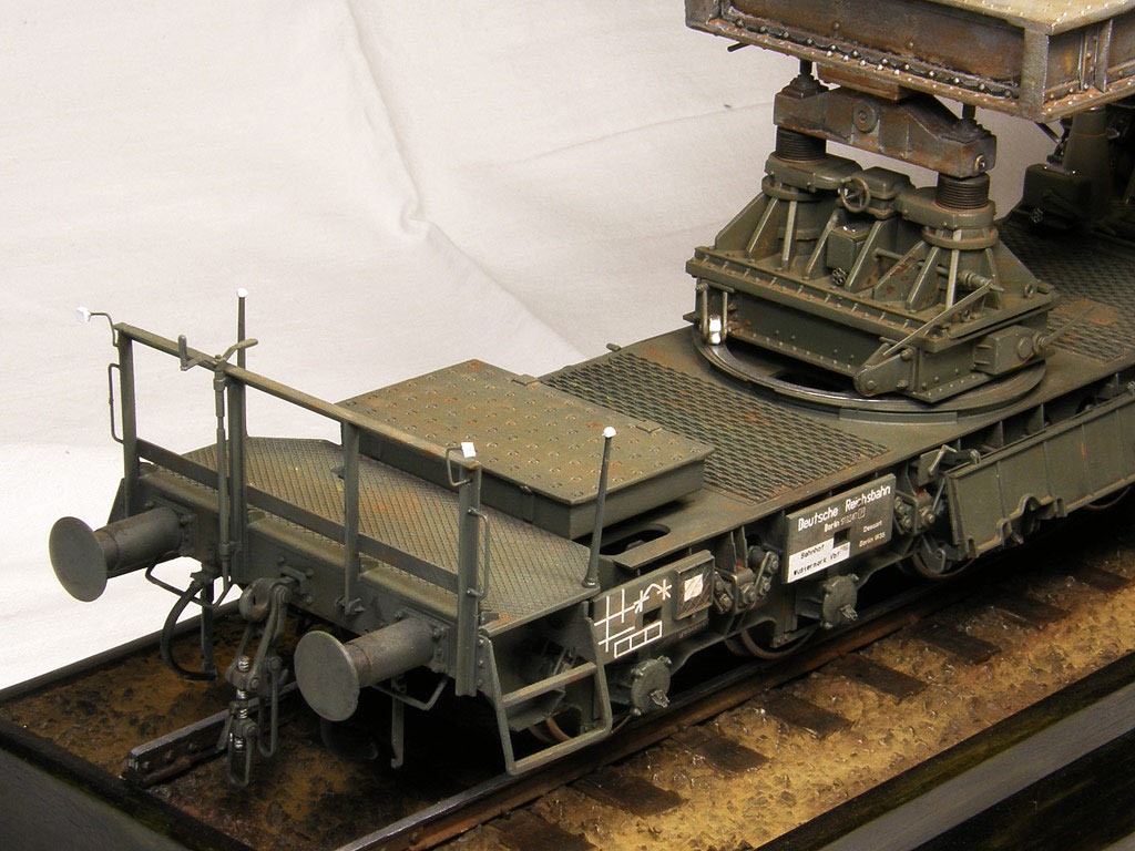 Dioramas and Vignettes: Karl-Gerät 041 on railway carrier, photo #20