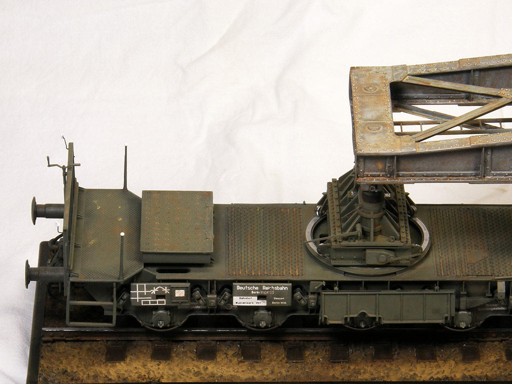 Dioramas and Vignettes: Karl-Gerät 041 on railway carrier, photo #3