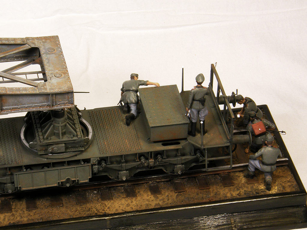 Dioramas and Vignettes: Karl-Gerät 041 on railway carrier, photo #6