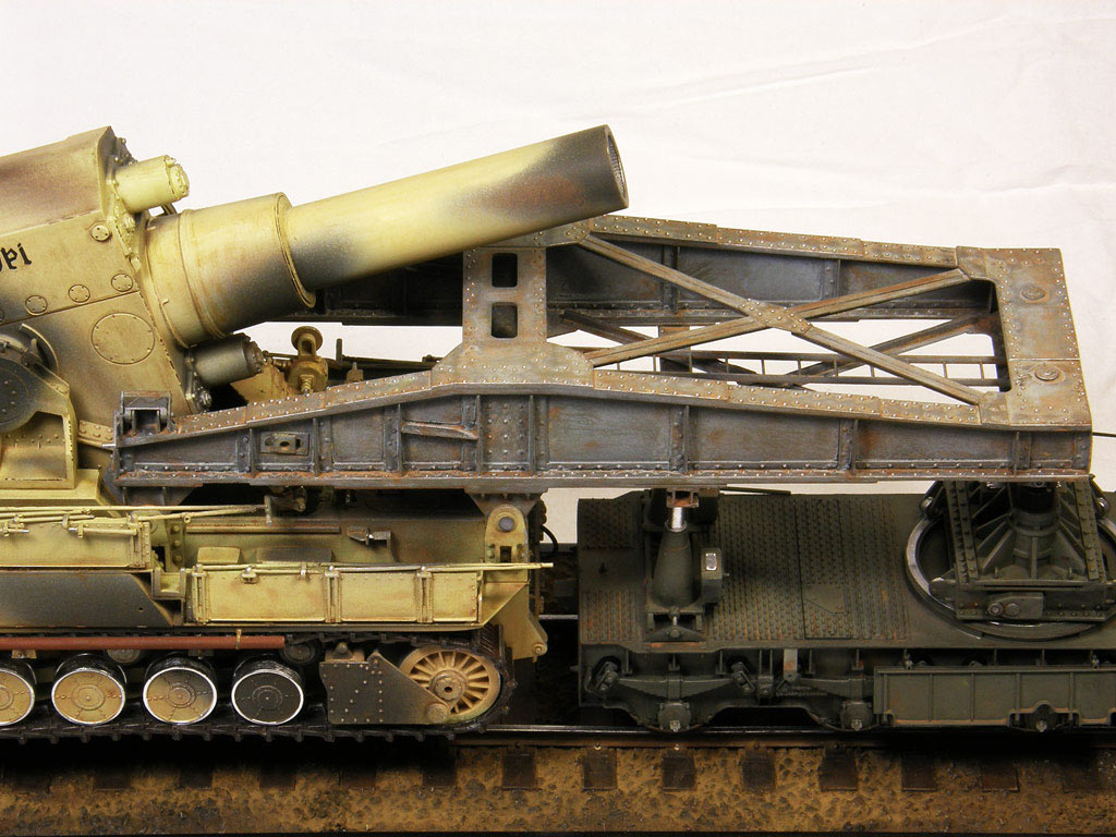 Dioramas and Vignettes: Karl-Gerät 041 on railway carrier, photo #7