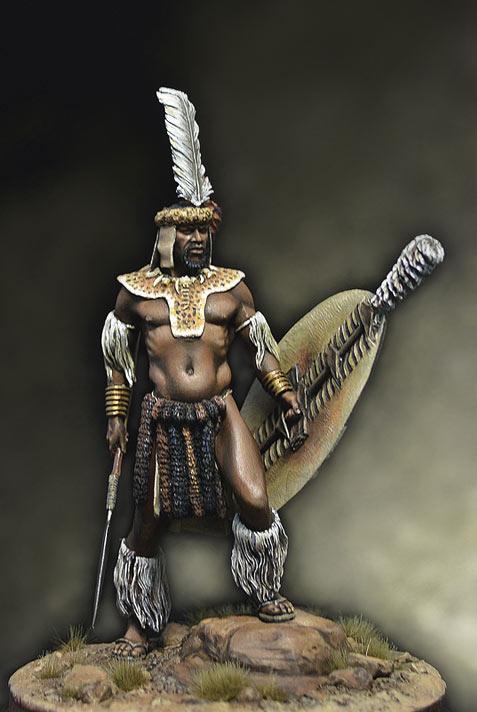 Figures: Zulu warrior, 1879, photo #1