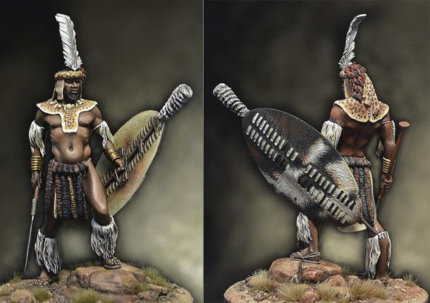 Figures: Zulu warrior, 1879