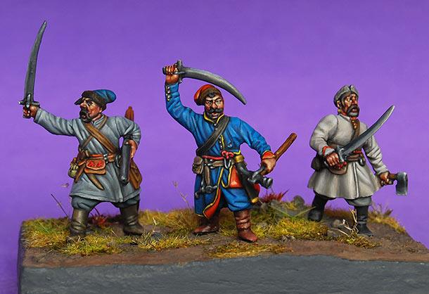 Figures: Ukrainian Cossacks, 17th cent.
