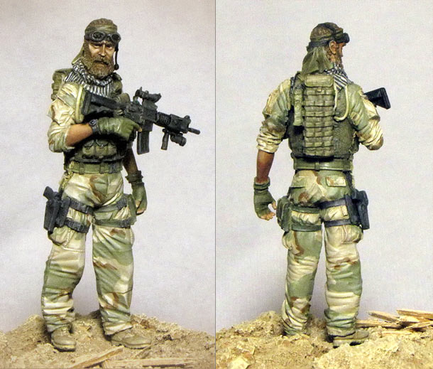 Figures: U.S. Special Forces operator, Afghanistan