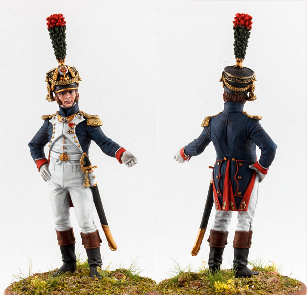 Figures: Officer, fusilier-chasseurs of Emperor's Guard, 1812-14