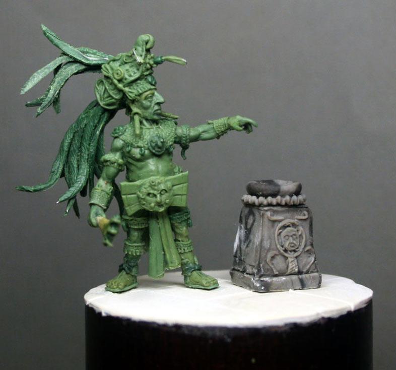 Figures: Mayan priest, photo #10
