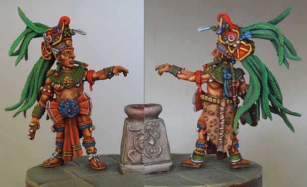 Figures: Mayan priest