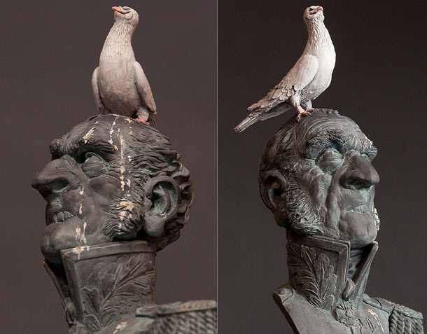 Sculpture: Monument to the pigeon