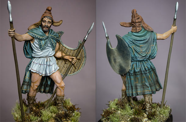 Figures: Thrakian peltast, 5th cent. B.C.