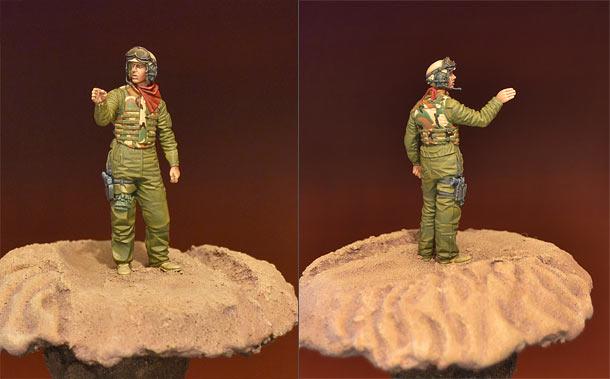 Figures: U.S. tank crewman, Iraq