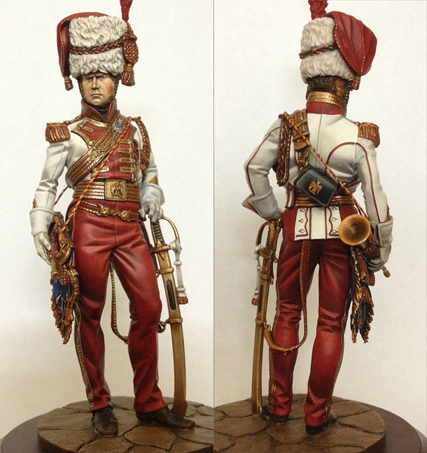 Figures: Bugler, 2nd regt., Emperor Guard's lancers, 1811-13