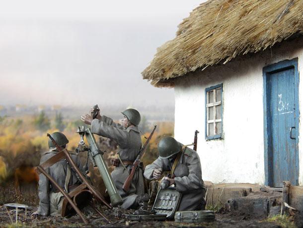 Dioramas and Vignettes: Mortar crew