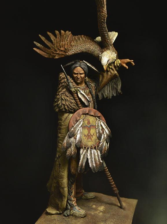 Figures: Dakota warrior, photo #1