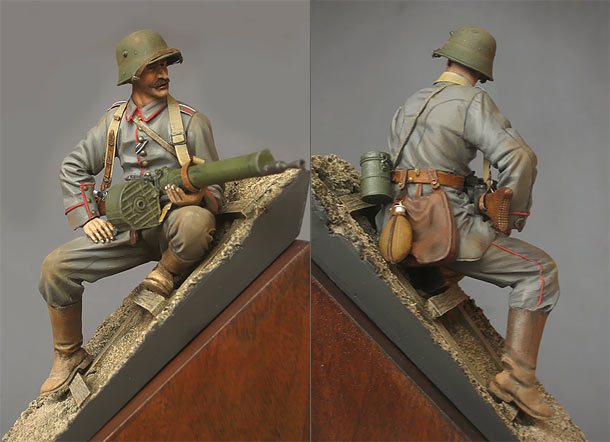 Figures: German machine gunner, 1916