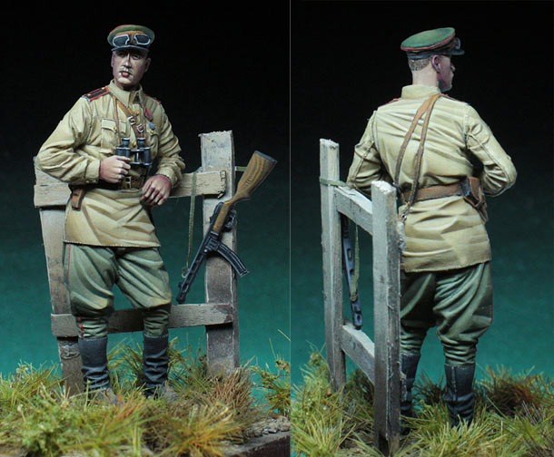 Figures: Soviet officer, WW2