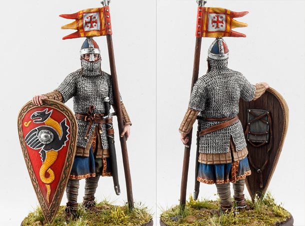 Figures: Norman knight, XI cent.