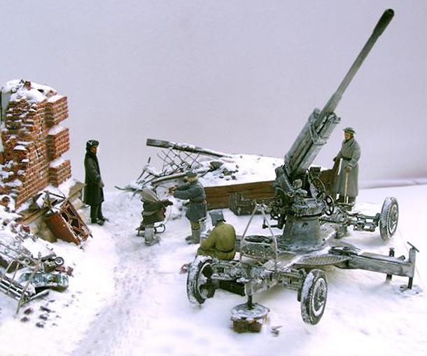 Dioramas and Vignettes: AA Gun Crew, Leningrad, 1942