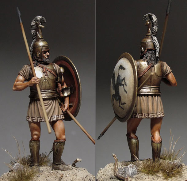 Figures: Greek hoplite, 750-650 B.C.