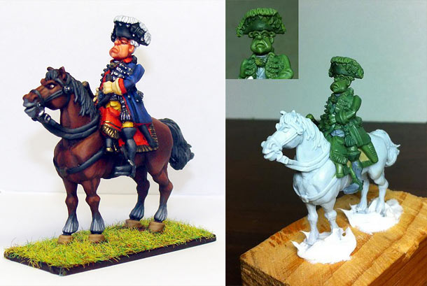 Sculpture: Seven Years' War. Prussian Leib Guards