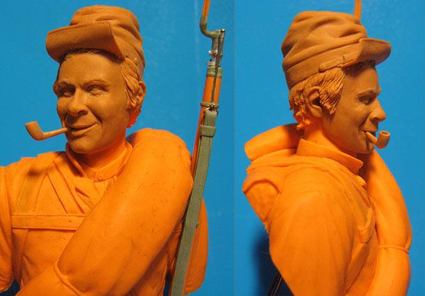 Sculpture: Confederate soldier, American Civil War