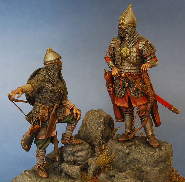 Figures: Russian warriors, mid 14th cent.