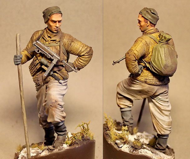 Figures: Red Army scout, sgt. Nikonov