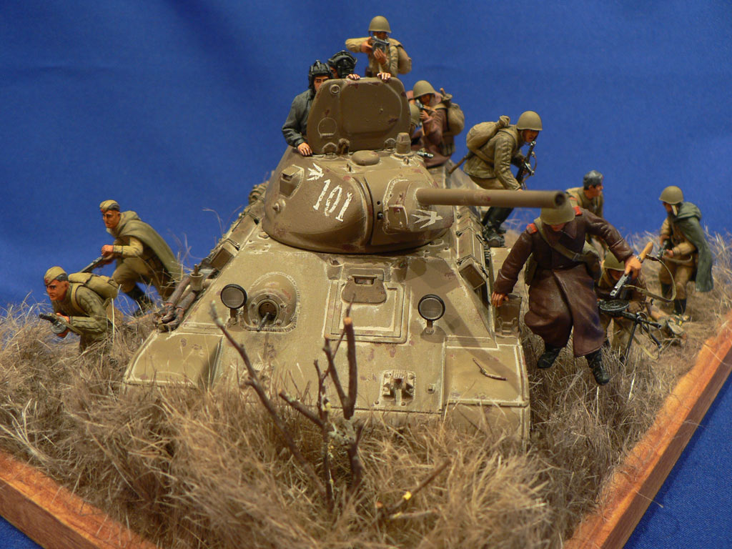 Dioramas and Vignettes: Soviet tank riders, photo #1
