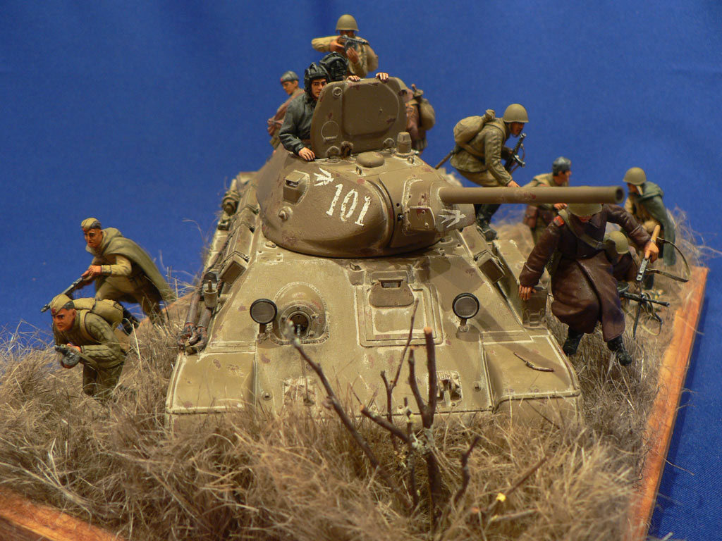 Dioramas and Vignettes: Soviet tank riders, photo #10