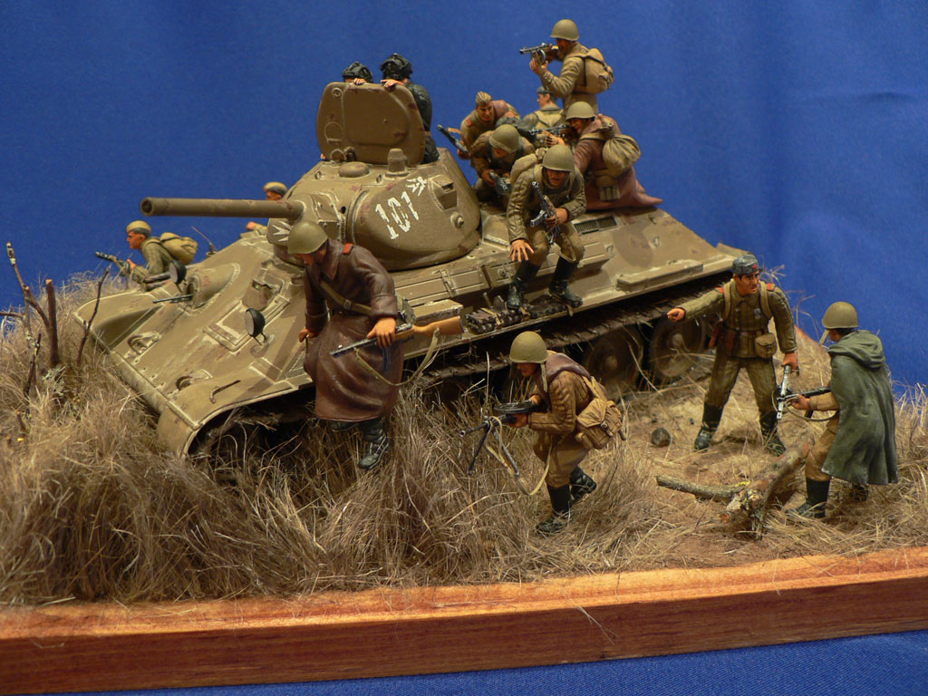 Dioramas and Vignettes: Soviet tank riders, photo #11