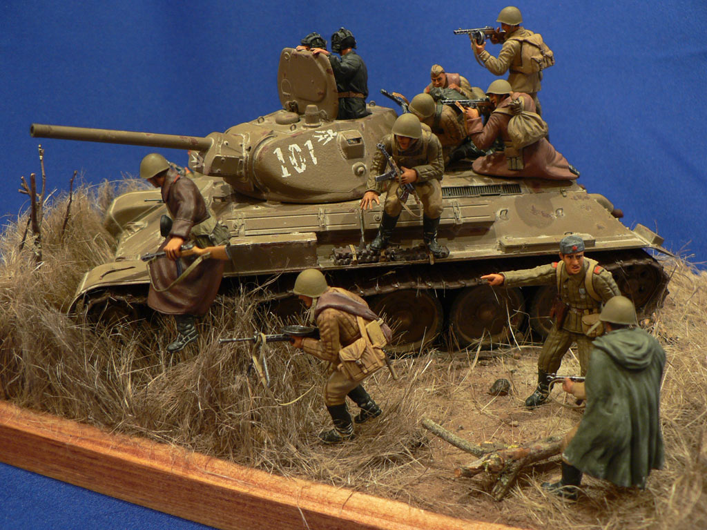 Dioramas and Vignettes: Soviet tank riders, photo #12