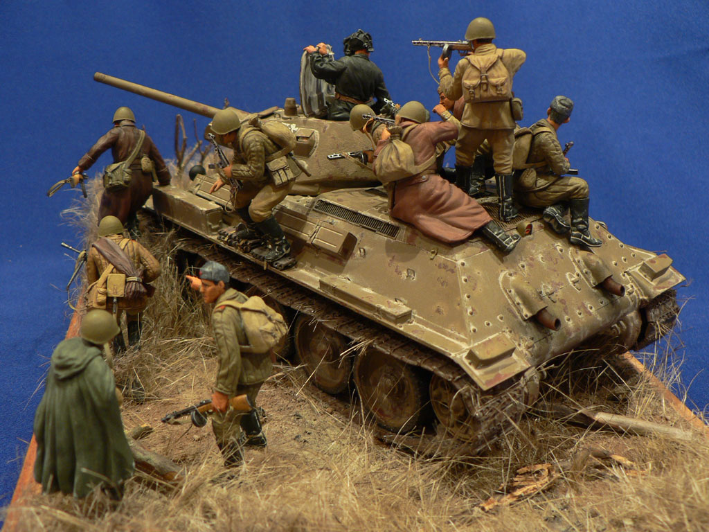 Dioramas and Vignettes: Soviet tank riders, photo #13