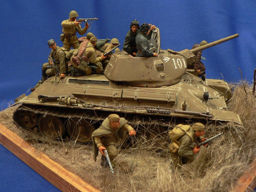 Dioramas and Vignettes: Soviet tank riders, photo #15